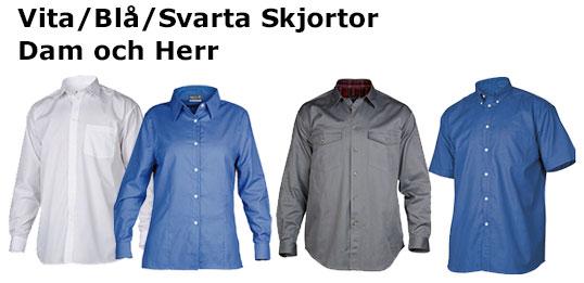 Vita / Blå / Svarta skjortor – Dam och herr
